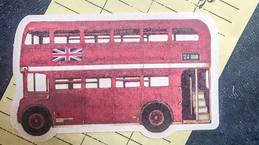 ロンドンバスのカードと真鍮のピアスといろいろ
